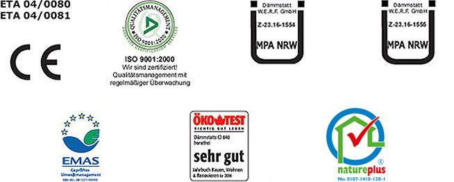 Atesty, aprobaty, certyfikaty - Certyfikaty poziome-izolacje iocieplenia - derowerk