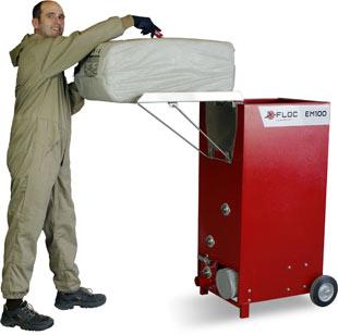 EM100 3550 befuellen - Najtańsza maszyna dowdmuchiwania dociepleń - derowerk