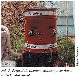 Izolacja termiczna zcelulozy - agregat doprzesylania izolacji celulozowej - derowerk