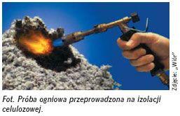 Izolacja termiczna zcelulozy - proba ogniowa - derowerk