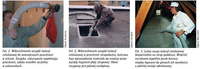 Izolacja termiczna zcelulozy - wdmuchiwanie zasypki - derowerk