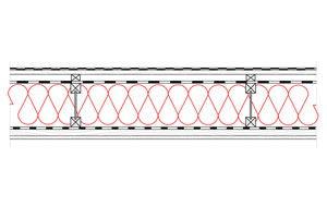 Obliczenia iprzekroje budowlane - isofloc f - dachy - dach wentylowany - pokrycie bitumiczne - krokwie dwuteowe - derowerk