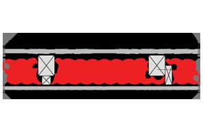 Obliczenia iprzekroje budowlane - isofloc f - dachy - dach wentylowany - pokrycie ceramiczne - krokwie oprzekroju prostokatnym - zwiekszona grubosc izolacji isofloc f (kantowki, boczne nakladki) - derowerk