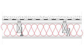 Obliczenia iprzekroje budowlane - isofloc f - dachy - dach zielony wentylowany - krokwie oprzekroju prostokatnym - zwiekszona grubosc izolacji isofloc f (kantowki, boczne nakladki) - derowerk