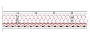 Obliczenia iprzekroje budowlane - isofloc f - sciany - sciana szkieletowa - konstrukcja drewniana przekroj prostokatny - warstwa izolacji wdmuchnieta miedzy konstrukcyjne profile drewniane istelaz doplyt g-k - derowerk