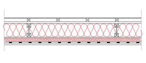 Obliczenia iprzekroje budowlane - isofloc f - sciany - sciana szkieletowa - konstrukcja drewniana przekroj prostokatny - warstwa izolacji wdmuchnieta miedzy konstrukcyne profile drewniane - elewacja wentylowana - derowerk