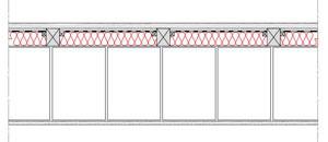 Obliczenia iprzekroje budowlane - isofloc f - sciany - sciana warstwowa - warstwa konstrukcyjna zbloczkow silikatowych - warstwa izolacji isofloc f nazewnatrz - elewacja wentylowana nalatach drewnianych - derowerk