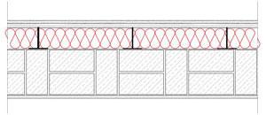 Obliczenia iprzekroje budowlane - isofloc f - sciany - sciana warstwowa - warstwa konstrukcyjna zceglu pelnej - warstwa izolacji isofloc f nazewnatrz - elewacja niewentylowana mocowana nakotwy - derowerk
