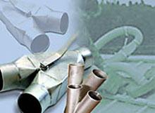 Rozgalezniki strumieniowe zlaczki obejmy redukcje trojniki rozgalezniki do wezy wdmuchujacych - Derowerk