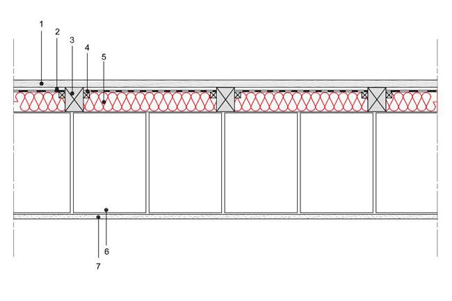 Obliczenia iprzekroje budowlane - isofloc f - sciany - sciana warstwowa - warstwa konstrukcyjna zbloczkow silikatowych - warstwa izolacji isofloc f nazewnatrz - elewacja wentylowana nalatach drewnianych - S6 - derowerk