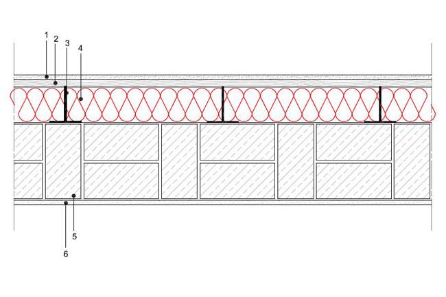 Obliczenia iprzekroje budowlane - isofloc f - sciany - sciana warstwowa - warstwa konstrukcyjna zceglu pelnej - warstwa izolacji isofloc f nazewnatrz - elewacja niewentylowana mocowana nakotwy - S8 - derowerk