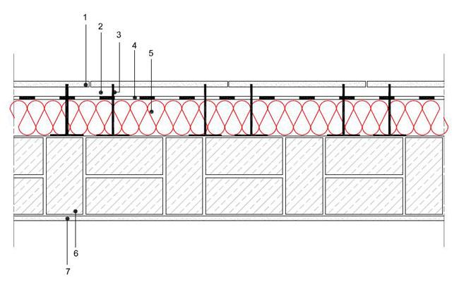 Obliczenia iprzekroje budowlane - isofloc f - sciany - sciana warstwowa - warstwa konstrukcyjna zcegly kratowki - warstwa izolacji isofloc f nazewnatrz - elewacja wentylowana mocowana nakotwach - S5 - derowerk