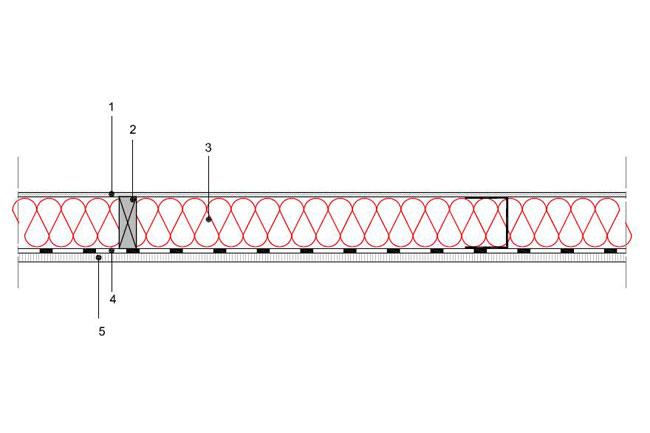 Obliczenia iprzekroje budowlane - isofloc f - sciany - wewnetrzna sciana szkieletowa - konstrukcja drewniana lub stalowa - pomiedzy pomieszczeniem ogrzewanym inieogrzewanym - S9 - derowerk