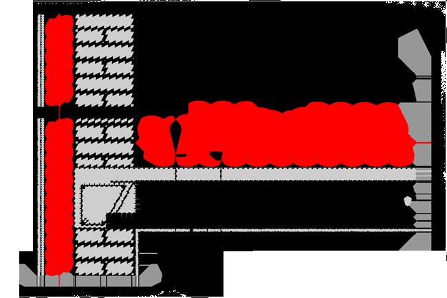 Obliczenia iprzekroje budowlane - isofloc f - stropodachy - stropodach wentylowany - warstwa izolacji ukladana swobodnie nastropie - strop gestozebrowy - przekrycie plytkami korytkowymi ipapa - SD1 - derowerk