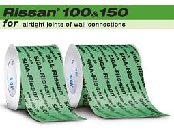 Rissan 100&150 - jednostronna szeroka taśma douszczelniania lączeń okładzin ściennych zpodlogą lub stropem Derowerk