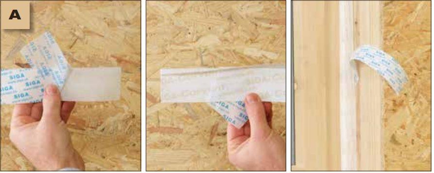 Corvum 12/48 - jednostronna tasma douszczelniania ram okiennych idrzwiowych - sposob uzycia warstwy zabezpieczajacej doprostego iszybkiego montazu - derowerk