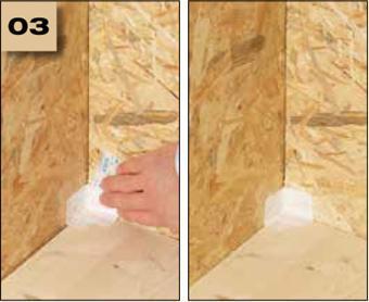 Corvum 30/30 - tasma douszczelniania narozy, oscieznic, polaczen okien zizolacja parochronna wewnatrz budynku - sposob uzycia naroza wklesle 3 - derowerk