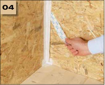 Corvum 30/30 - tasma douszczelniania narozy, oscieznic, polaczen okien zizolacja parochronna wewnatrz budynku - sposob uzycia naroza wklesle 4 - derowerk