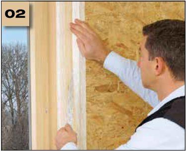 Corvum 30/30 - tasma douszczelniania narozy, oscieznic, polaczen okien zizolacja parochronna wewnatrz budynku - sposob uzycia naroza wypukle 2 - derowerk