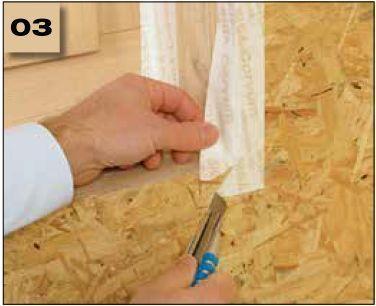 Corvum 30/30 - tasma douszczelniania narozy, oscieznic, polaczen okien zizolacja parochronna wewnatrz budynku - sposob uzycia naroza wypukle 3 - derowerk