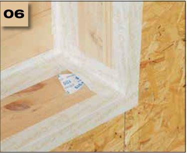 Corvum 30/30 - tasma douszczelniania narozy, oscieznic, polaczen okien zizolacja parochronna wewnatrz budynku - sposob uzycia naroza wypukle 6 - derowerk