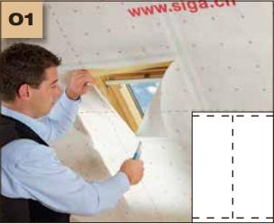 Corvum 30/30 - tasma douszczelniania narozy, oscieznic, polaczen okien zizolacja parochronna wewnatrz budynku - sposob uzycia okna dachowe 1 - derowerk