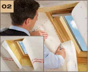Corvum 30/30 - tasma douszczelniania narozy, oscieznic, polaczen okien zizolacja parochronna wewnatrz budynku - sposob uzycia okna dachowe 2 - derowerk