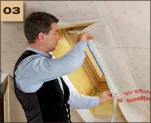 Corvum 30/30 - tasma douszczelniania narozy, oscieznic, polaczen okien zizolacja parochronna wewnatrz budynku - sposob uzycia okna dachowe 3 - derowerk