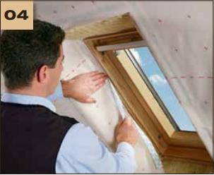 Corvum 30/30 - tasma douszczelniania narozy, oscieznic, polaczen okien zizolacja parochronna wewnatrz budynku - sposob uzycia okna dachowe 4 - derowerk