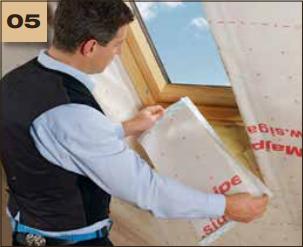 Corvum 30/30 - tasma douszczelniania narozy, oscieznic, polaczen okien zizolacja parochronna wewnatrz budynku - sposob uzycia okna dachowe 5 - derowerk