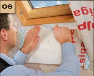 Corvum 30/30 - tasma douszczelniania narozy, oscieznic, polaczen okien zizolacja parochronna wewnatrz budynku - sposob uzycia okna dachowe 6 - derowerk