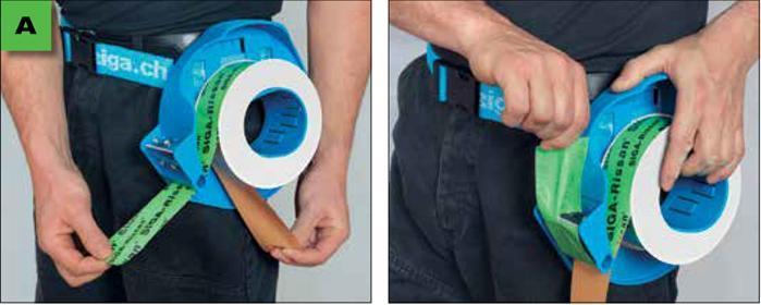 Rissan 60 - Jednostronna, elastyczna taśma do uszczelniania przejść rur, kabli itp. przez warstwę izolacji parochronnej - wskazowki i porady - derowerk