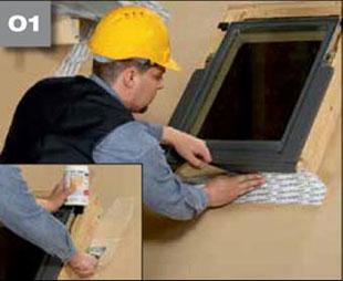 Wigluv 100/150 - jednostronna szeroka tasma klejaca do uszczelniania zewnetrznych polaczen i przebic w miejscach osobliwych - okna dachowe 1 - derowerk