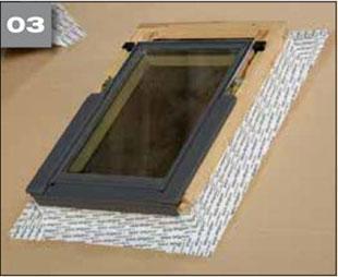 Wigluv 100/150 - jednostronna szeroka tasma klejaca do uszczelniania zewnetrznych polaczen i przebic w miejscach osobliwych - okna dachowe 3 - derowerk