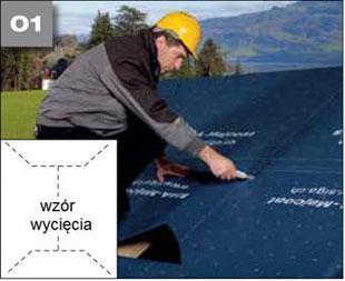 Wigluv 60 - jednostronna tasma dolaczenia zakladow membran dachowych isciennych orazuszczelniania polaczen iokien - okna dachowe 1 - derowerk