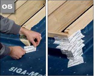 Wigluv 60 - jednostronna tasma dolaczenia zakladow membran dachowych isciennych orazuszczelniania polaczen iokien - okna dachowe 5 - derowerk