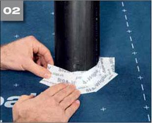 Wigluv 60 - jednostronna tasma dolaczenia zakladow membran dachowych isciennych orazuszczelniania polaczen iokien - zabezpieczenie przedpenetracja wody 2 - derowerk