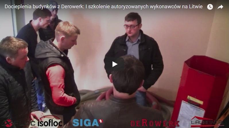 docieplenia budynków z Derowerk 1 szkolenie autoryzowanych wykonawców na Litwie