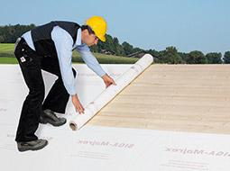 Renowacja dachu membraną wewnętrzną SIGA Majrex®, przepuszczającą wilgoć wyłącznie wjedną stronę