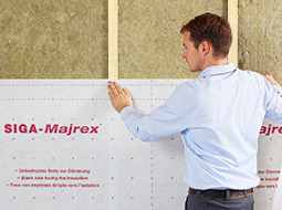 SIGA Majrex® przeznaczona jest do montowania wewnątrz pomieszczeń i chroni izolację przed wilgocią jak żadne inne rozwiązanie dostępne na rynku.