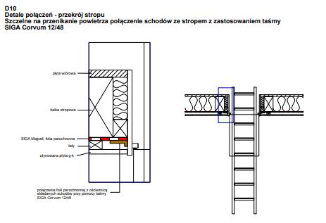 D10 - Połączenie schodów ze stropem