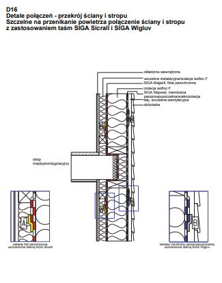 D16 - Połączenie ściany i stropu