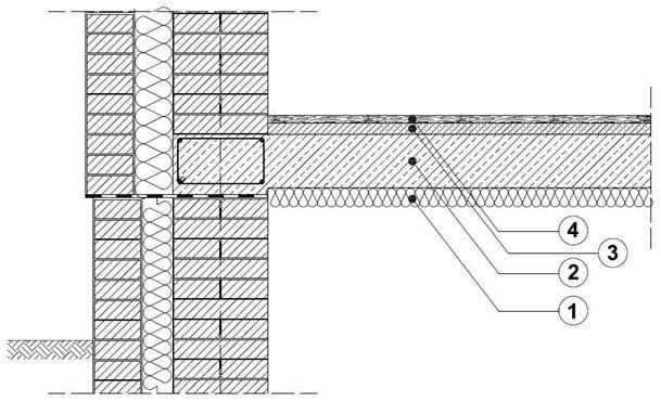 Strop nadpiwnicą lub garażem podziemnym Derowerk Schemat