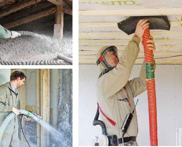 Metody i miejsca instalacji naturalnej izolacji z celulozy docieplania wdmuchiwane stropy ściany dachy derowerk