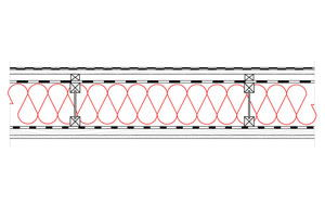 Obliczenia i przekroje budowlane dachy - dach wentylowany - pokrycie bitumiczne - krokwie dwuteowe - derowerk