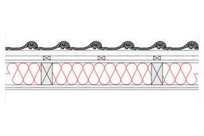 Obliczenia i przekroje budowlane dachy - dach wentylowany - pokrycie ceramiczne - krokwie o przekroju prostokatnym - derowerk