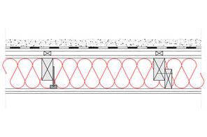 Obliczenia i przekroje budowlane dachy - dach zielony wentylowany - krokwie o przekroju prostokatnym - zwiekszona grubosc izolacji isofloc f (kantowki, boczne nakladki) - derowerk