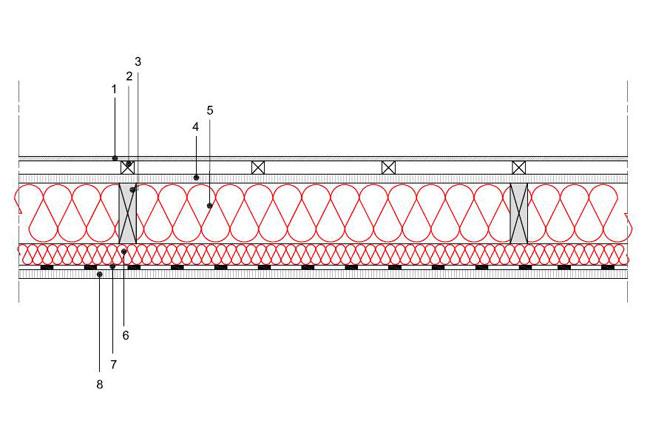 obliczenia i przekroje budowlane sciany sciana szkieletowa konstrukcja drewniana przekroj prostokatny s1 derowerk