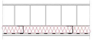 Obliczenia i przekroje budowlane sciany - sciana warstwowa - warstwa konstrukcyjna z bloczkow YTONG - warstwa izolacji isofloc f od wewnatrz - elewacja niewentylowana - derowerk