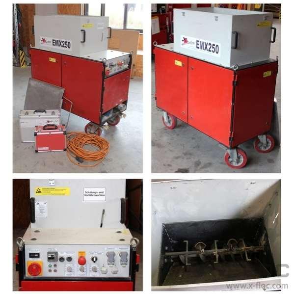 Specjalistyczna maszyna używana do wdmuchiwania i natryskiwania granulatów EMX250